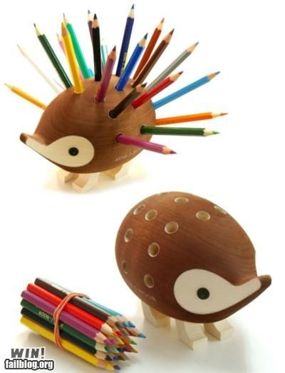 animals,clever,hedgehogs,looks like,pencils
