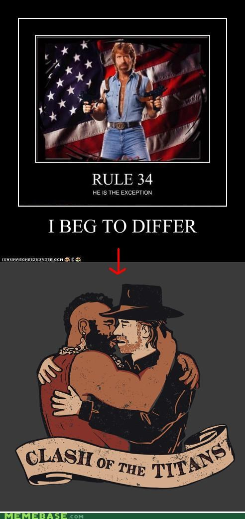chuck norris,differ,mr t,Reframe,Rule 34,very demotivational