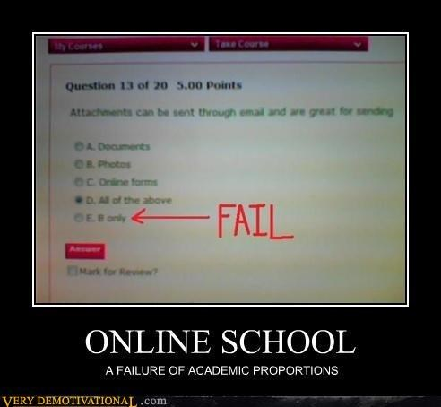 idiots,online,school,test,wrong