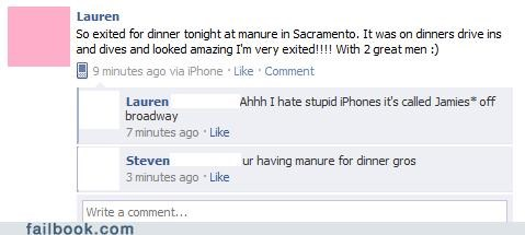 autocorrect manure dinner spelling typos - 4725409792