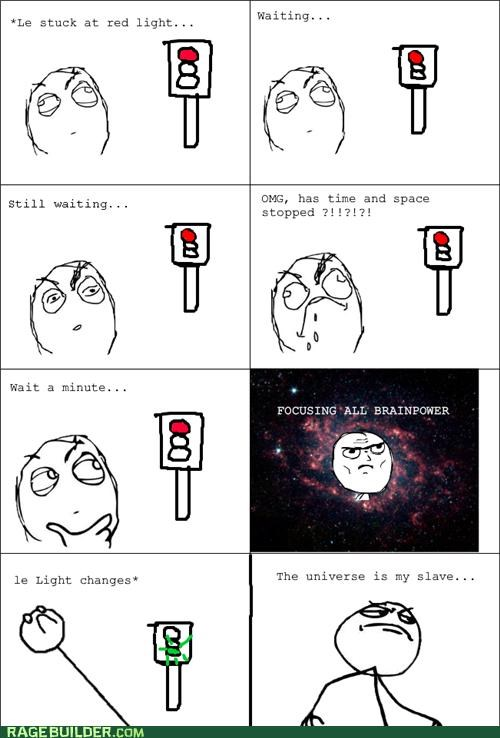 emperor power Rage Comics red light stopping universe - 4725499904
