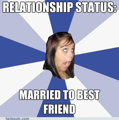 annoying facebook girl BFFs meme relationship status