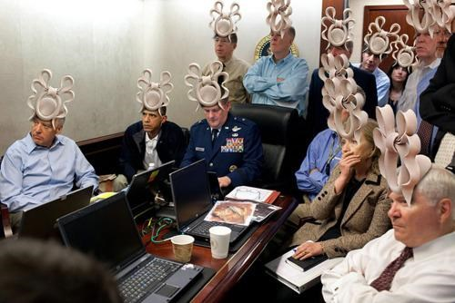 Meme Crossover,Osama Bin Laden,princess-beatrices-hat,SitRoom Photo