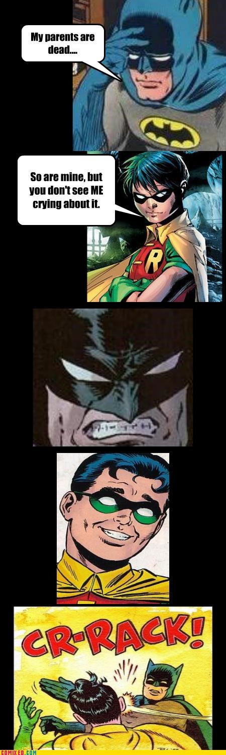 batman dead parents insensitive robin TEH GODDAMN BATMAN - 4725773568