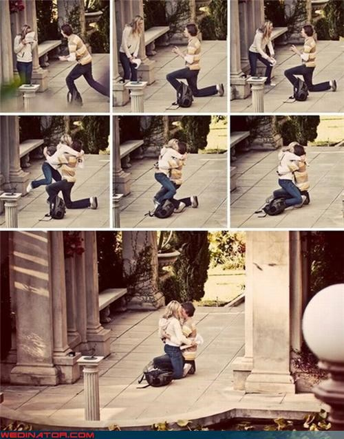 funny wedding photos Hall of Fame proposal - 4725788928