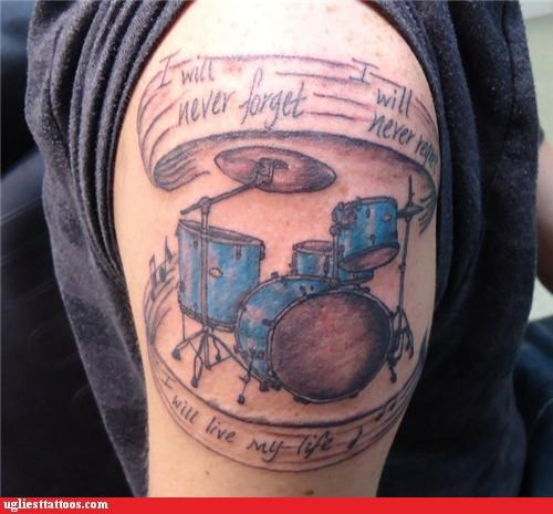 Music wtf tattoos drums funny - 4725846784