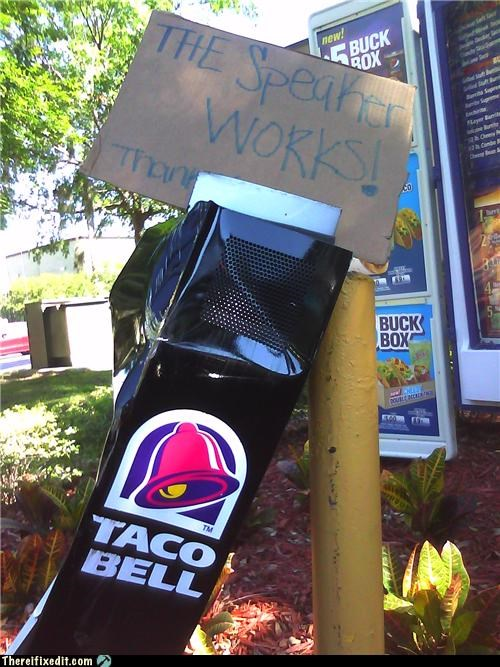 drive thru holding-it-up-signs Professional At Work speaker