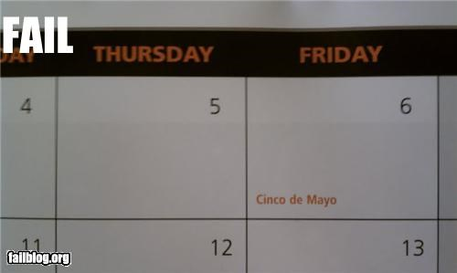calendar cinco de mayo date failboat g rated holiday mexico