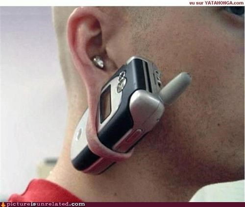 ears holder phone piercing ring weird kid wtf - 4725937152
