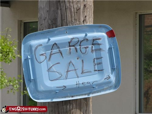 engrish,garage,sale