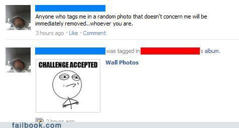 Challenge Accepted Photo tag