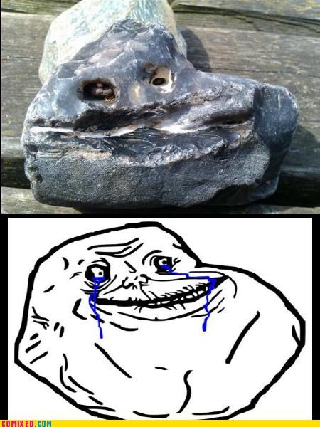 forever alone meme rock Sad the internets - 4726068224