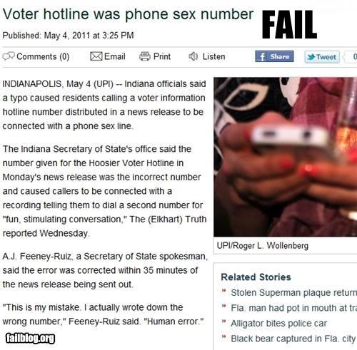 failboat government phone sex Probably bad News sex telephone voting - 4726097664