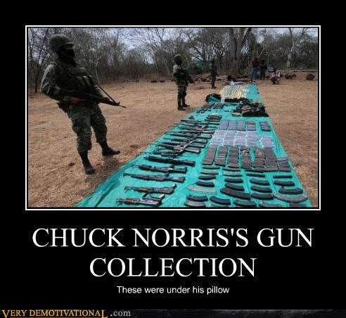chuck norris,gun collection,hilarious