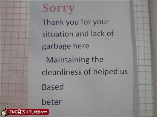 clean engrish note wtf - 4726183424