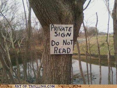 do not read IRL private sign - 4726337792