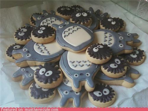 cookies,epicute,shortbread,soot sprites,totoro