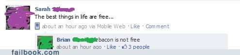 bacon,win,witty reply
