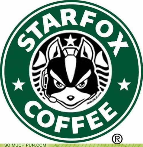 coffee Hall of Fame literalism logo similar sounding Starbucks starfox video game - 4727476736