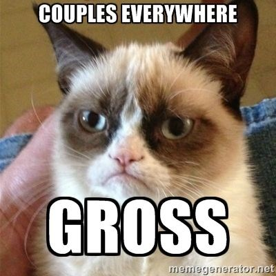 Grumpy Cat thoughts Valentines day - 4727557