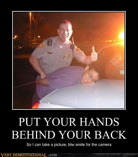 arrest back hands hilarious picture