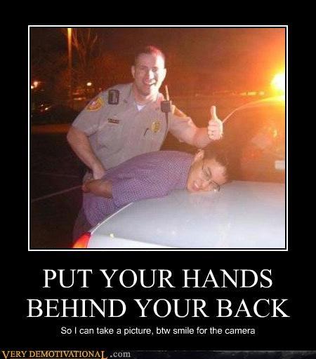 arrest back hands hilarious picture - 4728162304