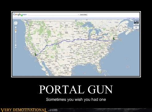 hilarious map portal gun road trip