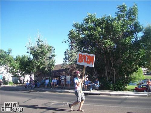 declicious bacon food Protest signs - 4728617216
