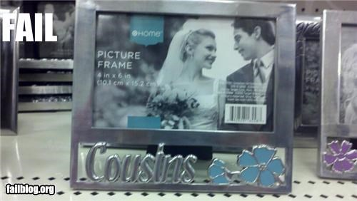 cousins,failboat,g rated,incest,marriage,picture frame,stock photo
