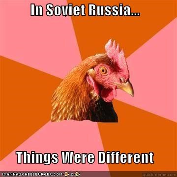 anti joke chicken,capitalist,countries,different,Soviet Russia