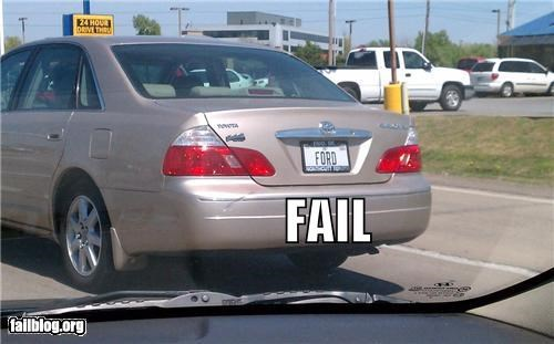 cars,failboat,ford,g rated,irony,license plate