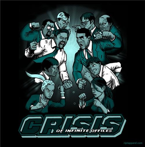 comics crisis of infinite offices ript shirts the office T.Shirt tv shows - 4728825856