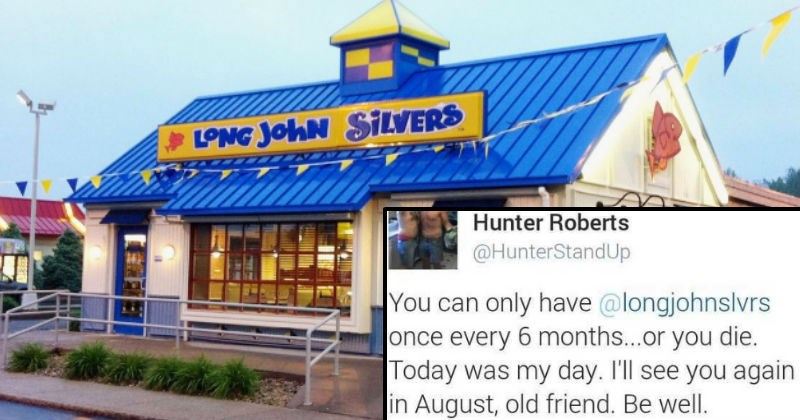 Guy live-tweets ridiculous breakup with Long John Silvers fast food restaurant.
