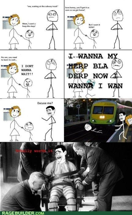 kid,push,Rage Comics,Subway,talking,worth it