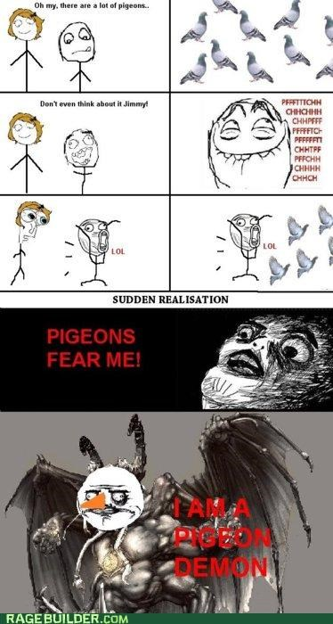 demon fear god pigeon Rage Comics realization - 4728914176