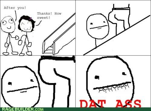 butt,dat ass,elevator,girlfriend,Rage Comics