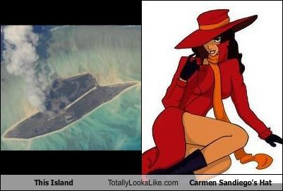 carmen sandiego,fashion,hats,island