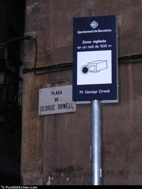 george orwell,political pictures,security,Spain