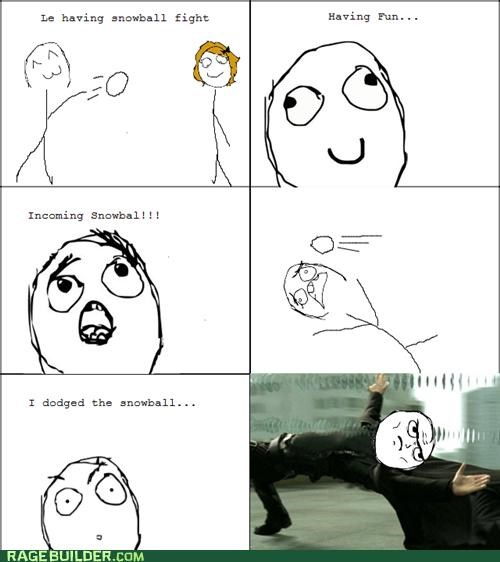 dodgeball,matrix,neo,Rage Comics,snowball