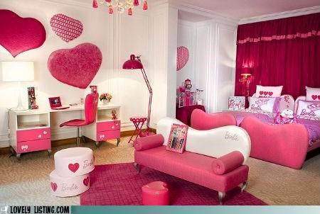 Barbie decor hotel pink - 4729451264