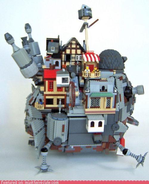 art howls-moving-castle lego miyazaki Movie sculpture