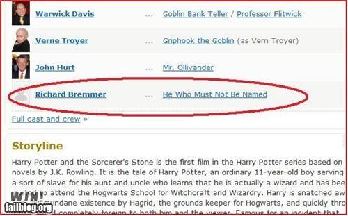 clever Harry Potter imdb nerdgasm voldemort - 4730042368