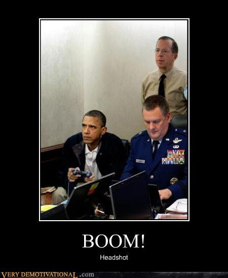 headshot hilarious obama video games - 4731098624