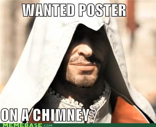 assassins creed chimney ezio Memes templar wanted