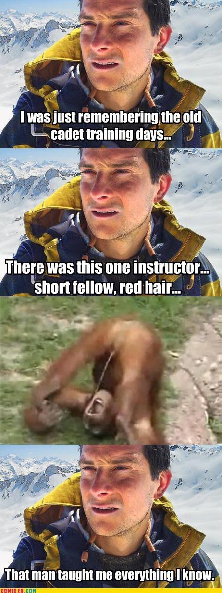 bear grylls celebutard eww monkey pee