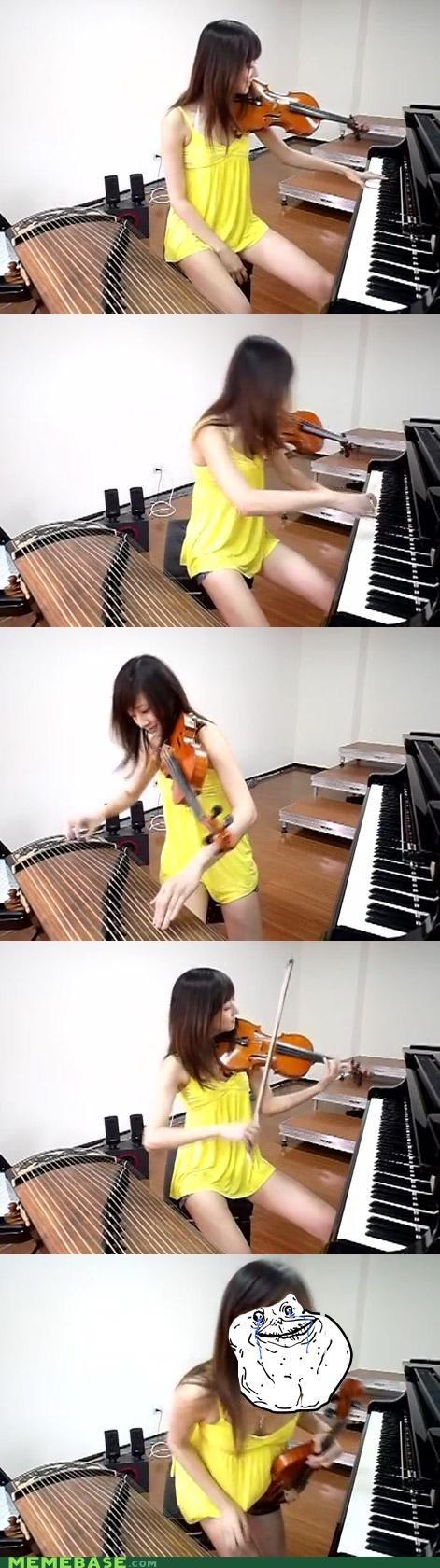 forever alone Music piano Sad violin - 4731785472