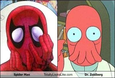 dr zoidberg futurama Spider-Man superheros - 4731860480