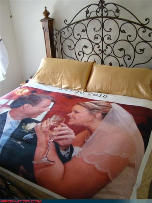 funny wedding photos photo sheets wedding night