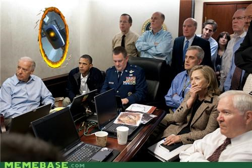 gladOS,Memes,obama,Portal,president,situation room,video games