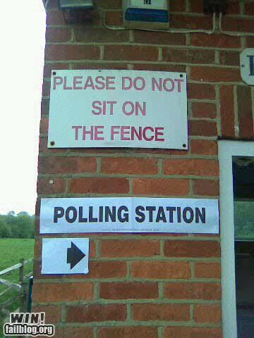 clever juxtaposition politics signs voting - 4732561408